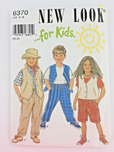 Kids Sewing Pattern Vest Pants Shorts Uncut Size 3 - 8 New Look Childs P... - $8.81