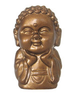 Pocket Buddha Happiness Gold Buddhism Figurine Toy - $4.99