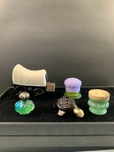 Lot Of 5 Avon Bottles Turtle, Boquet, Covered Wagon, and 1 Clear & 1Gree... - $10.00