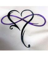 """Infinity Heart Metal Art-Always & Forever Infinity  10 3/4"""" x 12 1/4"""" Pr... - $18.99"""