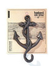 Set of 4 Anchor Design Single Hook Cast Iron - Colors Avail - Brown Black White image 2