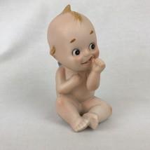 Kato Kogei Kewpie Baby Figurine Sucking Thumb Porcelain  - $60.78