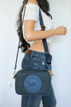NWT MICHAEL KORS FULTON SPORT LG EAST WEST CROSSBODY BAG DARK CHAMBRAY M... - $77.21