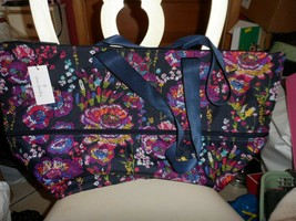 Vera Bradley ~ Lighten Up Expandable Travel Bag ~ Midnight Wildflowers NWT - $51.00