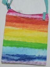 Three Cheers For Girls Brand 29170 Turquoise Rainbow White Hearts Cross body Bag image 3