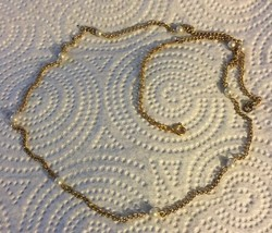 Vintage Gold Chain With Faux Pearls Necklace - $8.00