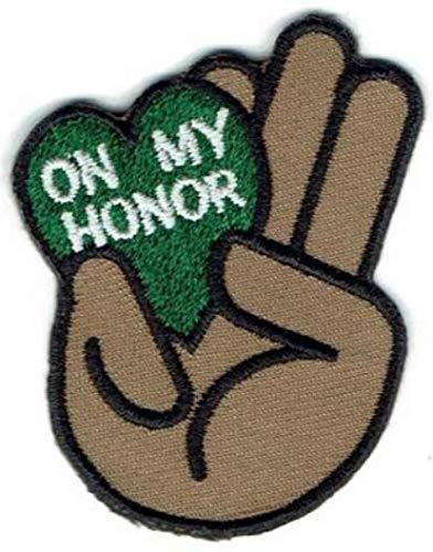 Cub Girl Boy ON MY HONOR Embroidered Iron-On Fun Patch Crests Badge Scout Guides