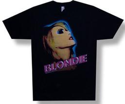 Blondie-Neon Debbie Harry-X-Large Black Lightweight T-shirt - $20.99