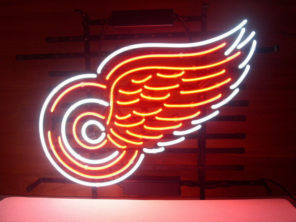 """New Detroit Red Wings NHL Beer Man Cave Neon Sign 17""""x14"""" Ship From USA"""