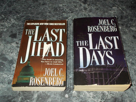 Joel C Rosenberg lot of 2 suspense paperbacks - $2.99