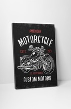 """American Motorcycle Pop Art Gallery Wrapped Canvas Print. 30""""x20 or 20""""x16"""" - $42.52+"""