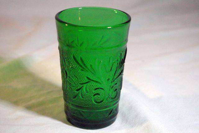 Primary image for Anchor Hocking Sandwich Green Flat Juice Glass