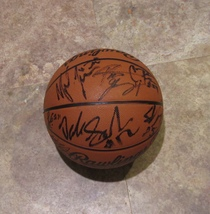 2013-14 FLORIDA GATORS AUTOGRAPHED TEAM SIGNED BASKETBALL w/ COA FINAL F... - $124.99