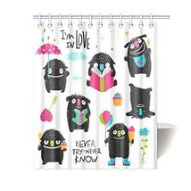 Unique Design Little Kids Black Monsters Activity Collection Custom 12 holes to  - $30.99