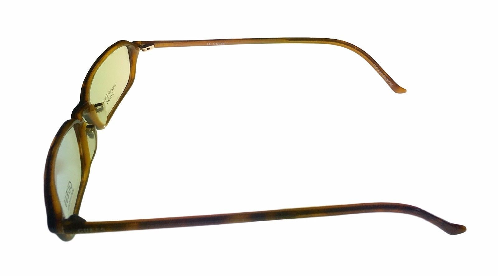 Guess Ophthalmic Mens Eyeglass Plastic Rectangle 1331 Demi Amber image 3