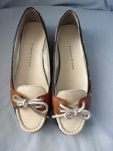 Shoes Etienne Aigner Lake Slip On Leather Boat Shoe Navy/Brown/White 8M Euc - $48.74