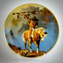 Spirit of the South Wind Hermon Adams Vintage Plate American Indian Limi... - $41.53