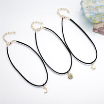 3 Pendants All-match Chokers Necklaces Alloy Pendants Necklaces Sets for Women image 4
