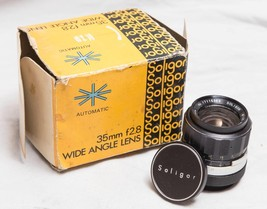 Vintage Soligor 35mm f/2.8 Canon Mount Wide Angle Lens w/ Box tthc - $74.24