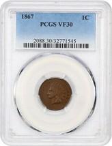 1867 1c PCGS VF30 - Indian Cent - $126.10