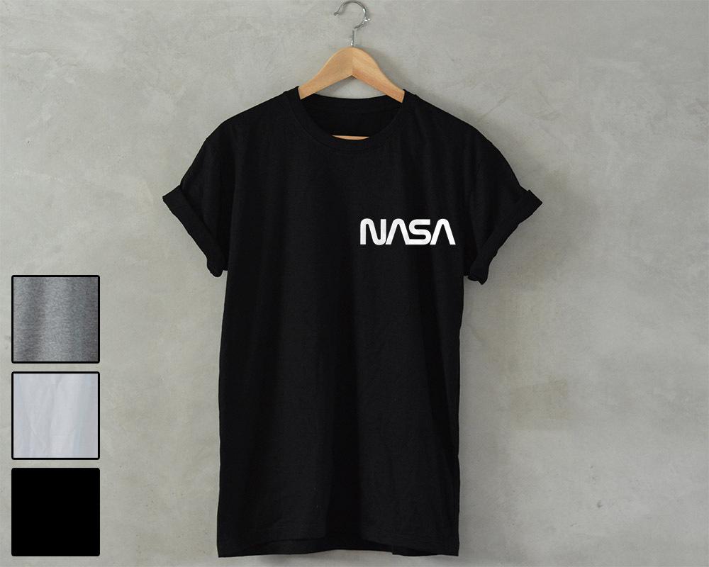 NASA T-Shirt retro space star geek nerd Unisex area 51 alien head ufo science
