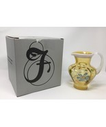 Fenton Autumn Gold Opal Hand Painted Pitcher - New With Box and Tags! #6... - €109,57 EUR