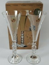 Cristal D'Arques France Crystal Millenium Champagne Flutes Year 2000 6.2... - $19.79