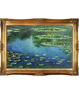 overstockArt Monet Water Lilies Painting with Victorians Gold Finish Frame - $363.15