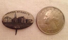 VTG 1913 PHOTO PIN BACK BUTTON GREATER ST. MARY'S BUFFALO NY WHITEHEAD &... - $9.89