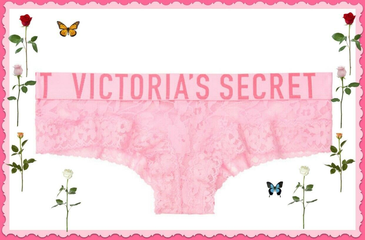 Primary image for L Pink Flora All Over Floral Lace THE Lacie LOGO Victorias Secret CHEEKY Pantie