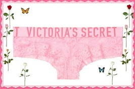 L Pink Flora All Over Floral Lace THE Lacie LOGO Victorias Secret CHEEKY... - $10.99