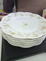 "6 Haviland China - ""Princess"" Dinner Plates - 9 1/2"" - Damage - $9.15"