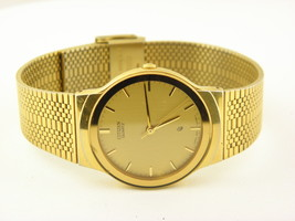 Men's Citizen Gold-Tone Watch Gold Dial (Model: 6031-G08652 Y0) - $57.82
