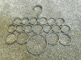 chrome metal loops = scarf, belt, tie, jewelry holder! - $8.60