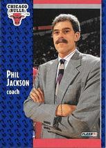Phil Jackson ~ 1991-92 Fleer #28 ~ Bulls - $0.05