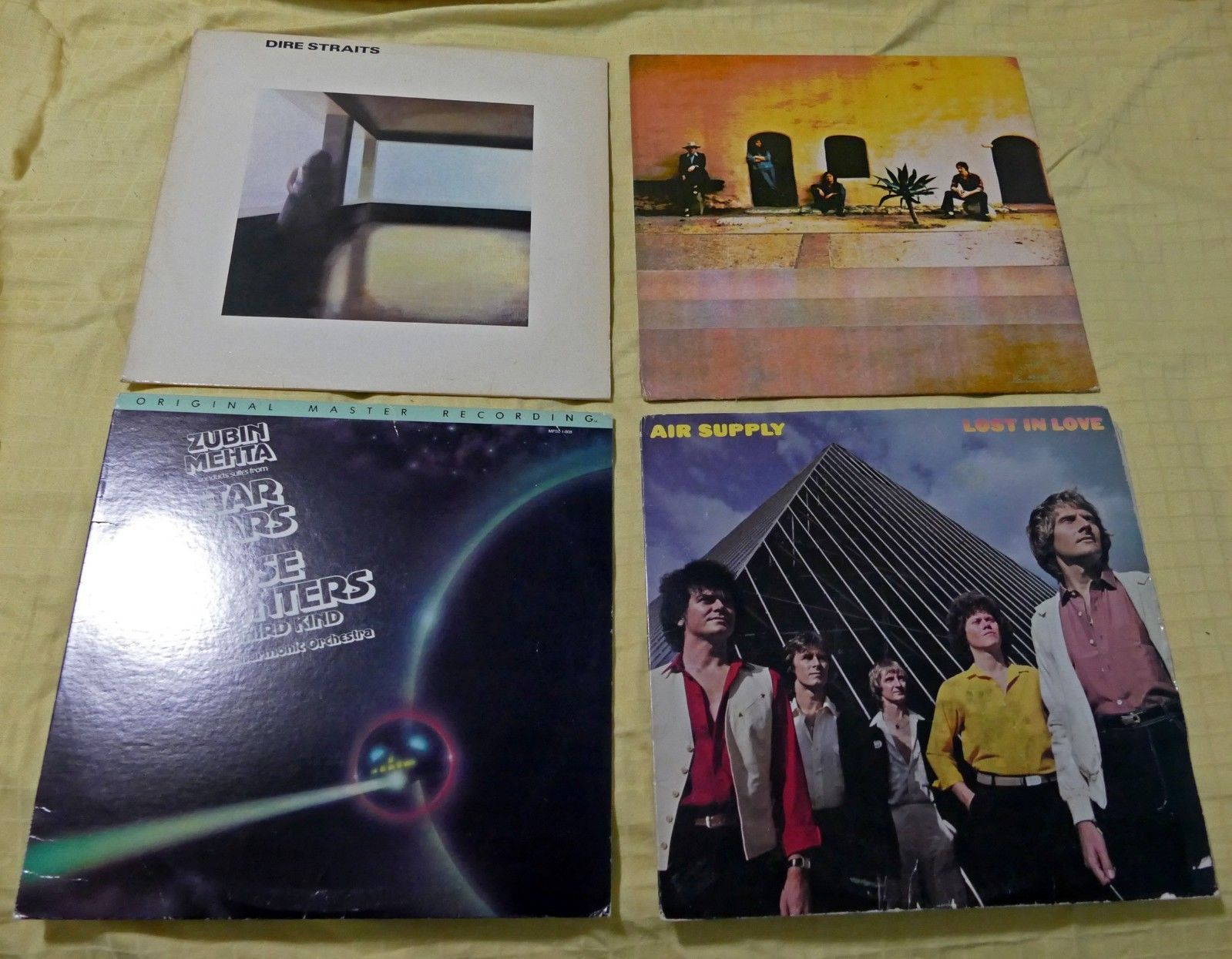 4 LP Dire Straits - Star Wars & Close Encounters (MSFL) - Air Supply - Poco