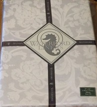 """WATERFORD LUXURIOUS TABLECLOTH ~ KENDALL STYLE  OBLONG SIZE 70"""" X 84"""" WHITE - $43.53"""