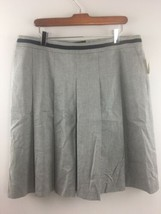 Talbots Skirt 14 Pleated Knee Length Pockets Lined Gray Black Career NWT... - $15.25