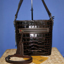 Dooney & Bourke Lani Croco Emb Leather Crossbody Brown T'Moro image 10