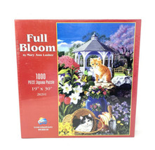 """1000 Piece Jigsaw Puzzle ' Full Bloom ' By Mary Ann Lasher 19"""" x 30"""" New Sealed - $18.69"""