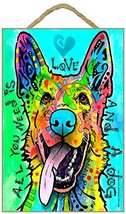 German Shepherd - All you need is love and a dog wood plaque/sign  - $14.99