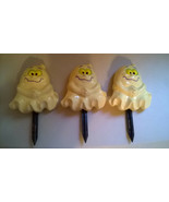 Set of 3 Lighted Cute Baby Ghosts Halloween Pathway Marker Lawn Stakes - $14.99