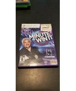 MINUTE TO WIN IT Xbox 360 Complete CIB w/ Box, Manual - $2.97