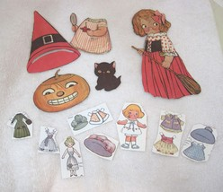 """Older Dolly Dingle Paper Doll 12 PC Dress Halloween & More 6 1/4"""" - $12.38"""