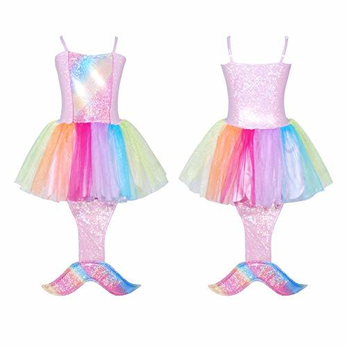 Primary image for Pink Poppy Rainbow Mermaid Dress Size 3/4-pink