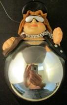Born to be Wild Silver Ball Woman Biker Ornament - $14.85
