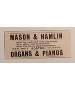 1893 Mason & Hamlin Organs & Pianos Advertisement - $23.00