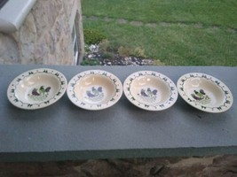 """Metlox Ca Provincial Poppytrail ~ Rooster ~ 4 Bowls ~ Approx 6"""" - $14.99"""