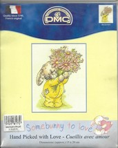 "FREE SHIPPING! SALE! ""HANDPICKED WITH LOVE""!! DMC XSTITCH KIT!! - $9.89"