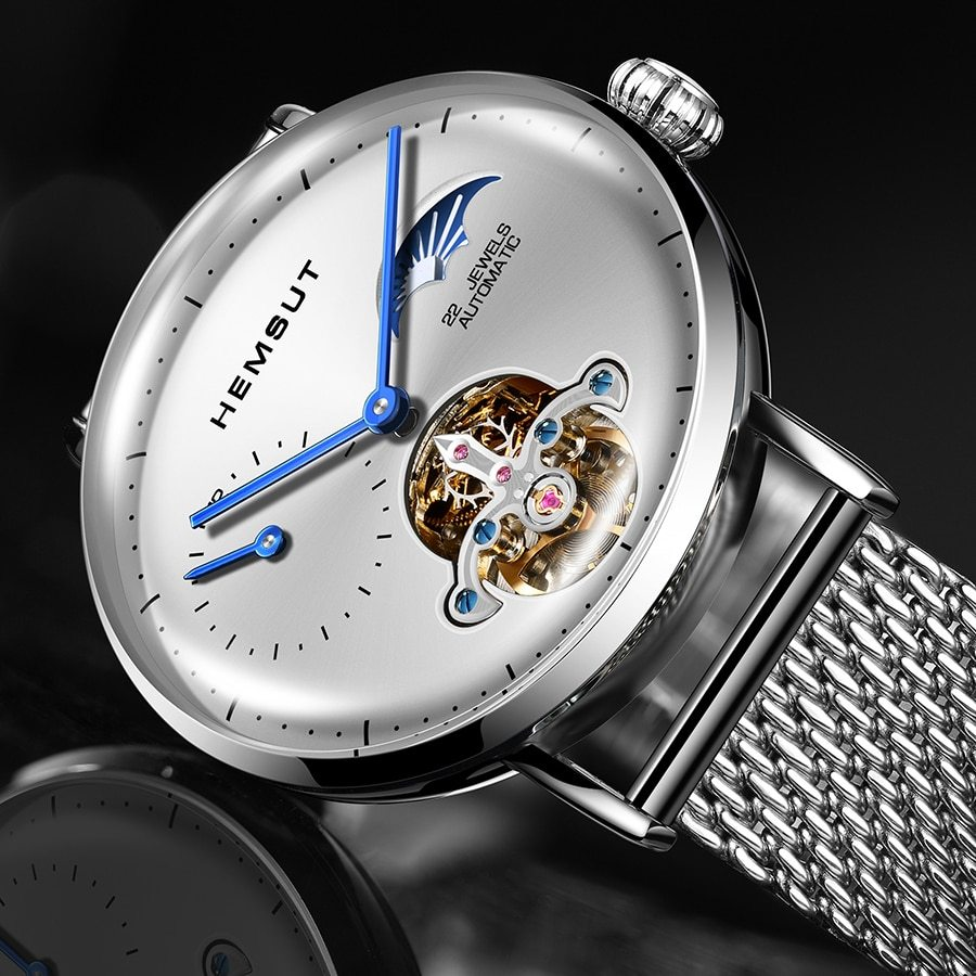 Automatic mechanical watch gold skeleton vintage man watch mens forsining watch top brand luxury